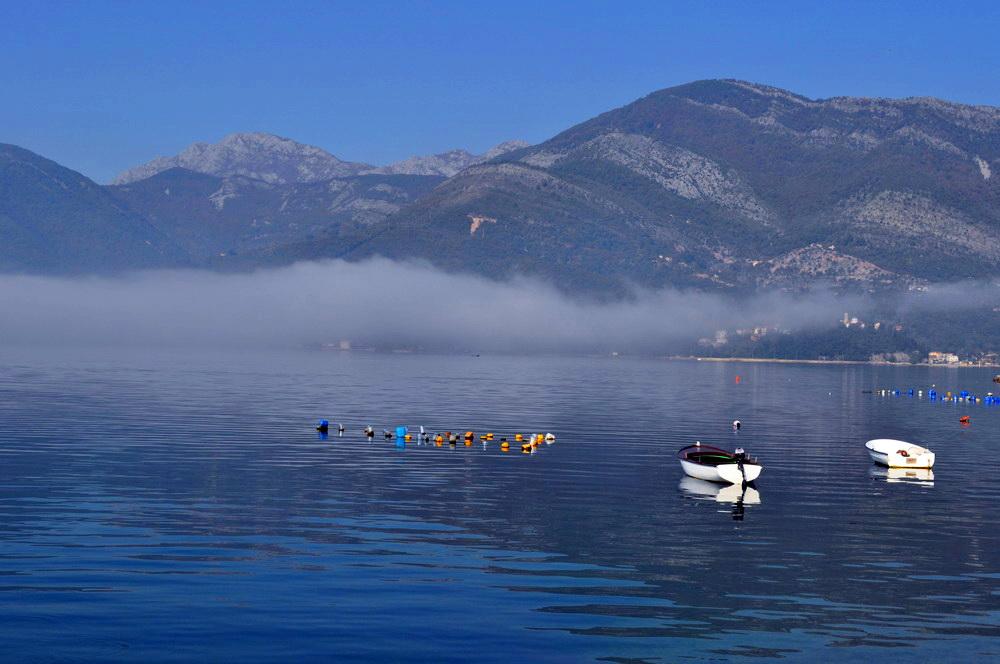 Boka Kotorska - vrijeme jutro