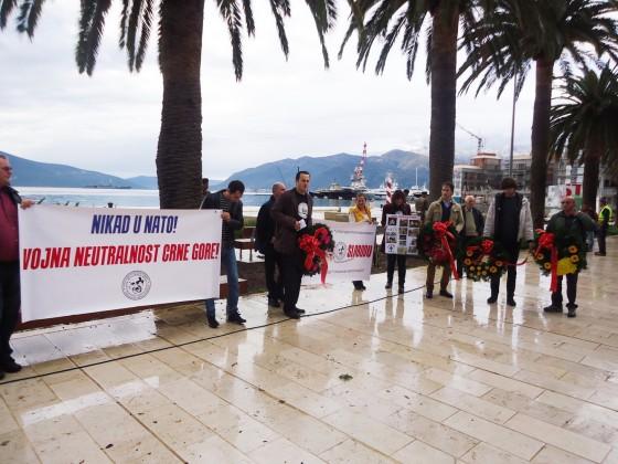 Tivat - Protest protiv NATO-a