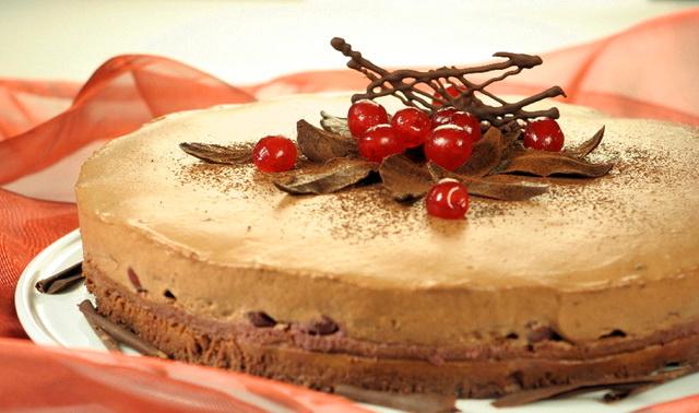 Božićna torta sa višnjama