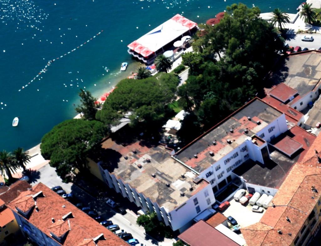 hotel Mimoza pogled iz vazduha - arhivska fotografija