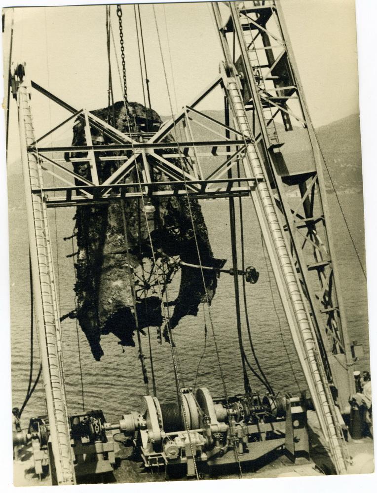 Vađenje broda Cetinje
