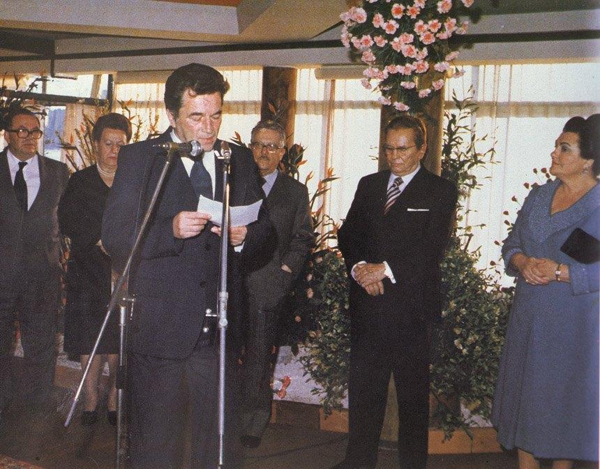 Otvaranje izložbe cvijeća 1977. godine