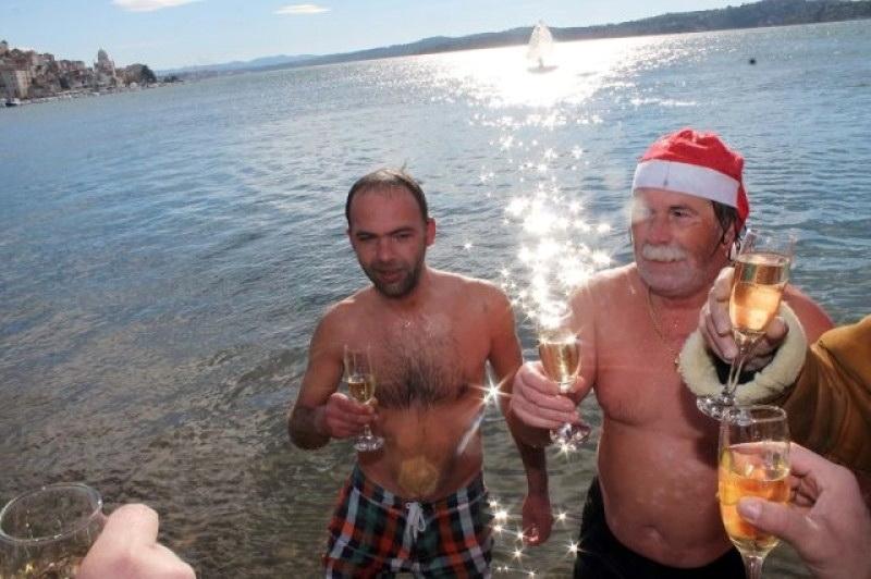 Šibenik novogodišnje kupanje