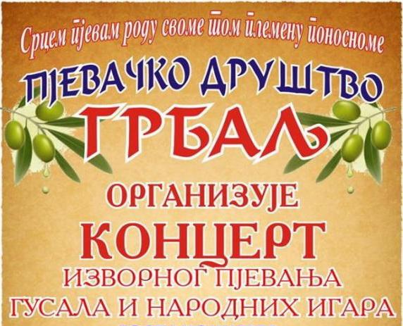 Kocert plakat