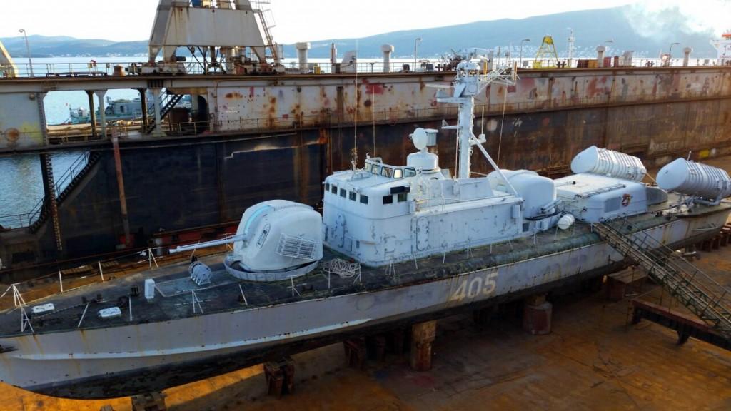 Topovnjaca 405 na doku u Bijeloj