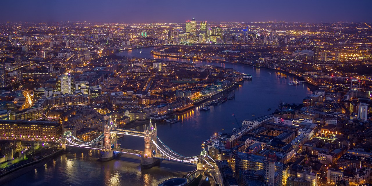 Centar Londona na rijeci Temzi