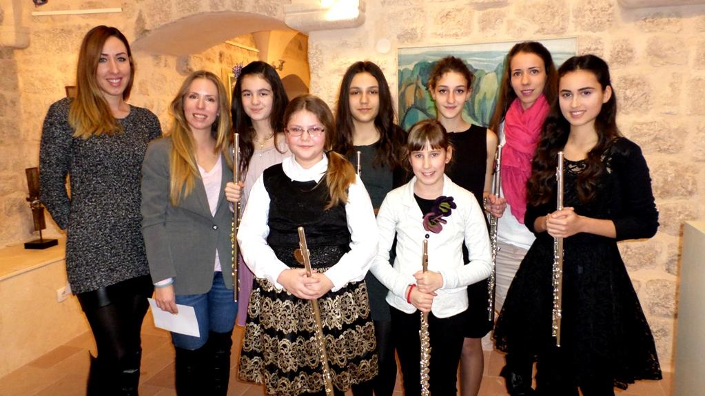 Flautistkinje sa profesorima