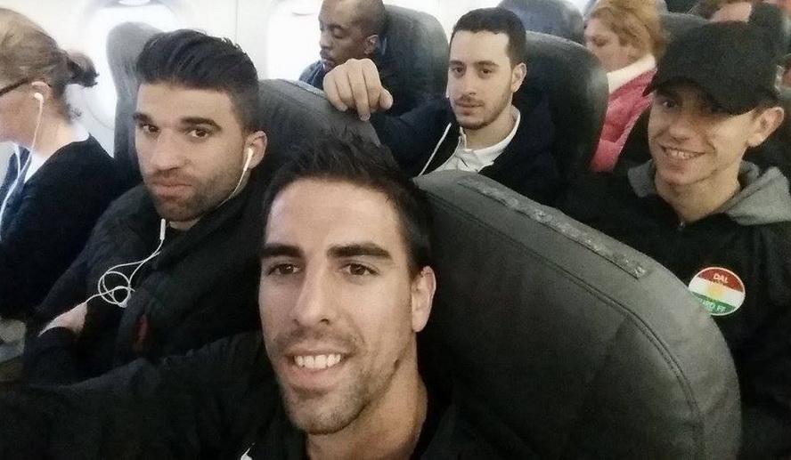 Kašćelan na letu Barselona - Cirih sa saigračima i klupskim doktorom