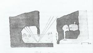 Adorjanova skica Modre spilje na Biševu