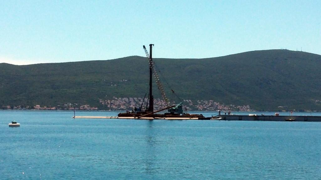 Porto Montenegro - radovi proširenje nesreća