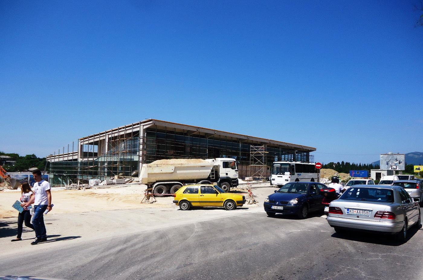 Na gradilištu Autobuske stanice Tivat