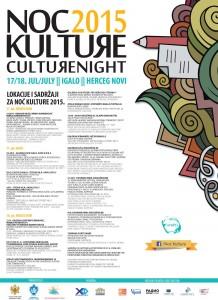 Program noć kulture 2015.