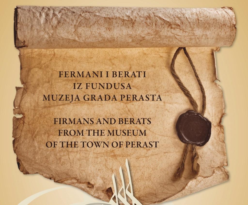 Perast – Izložba Fermani i Berati