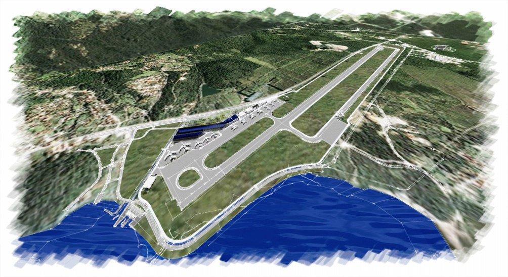kompjuterska animacija buduceg izgleda aerodroma Tivat 2