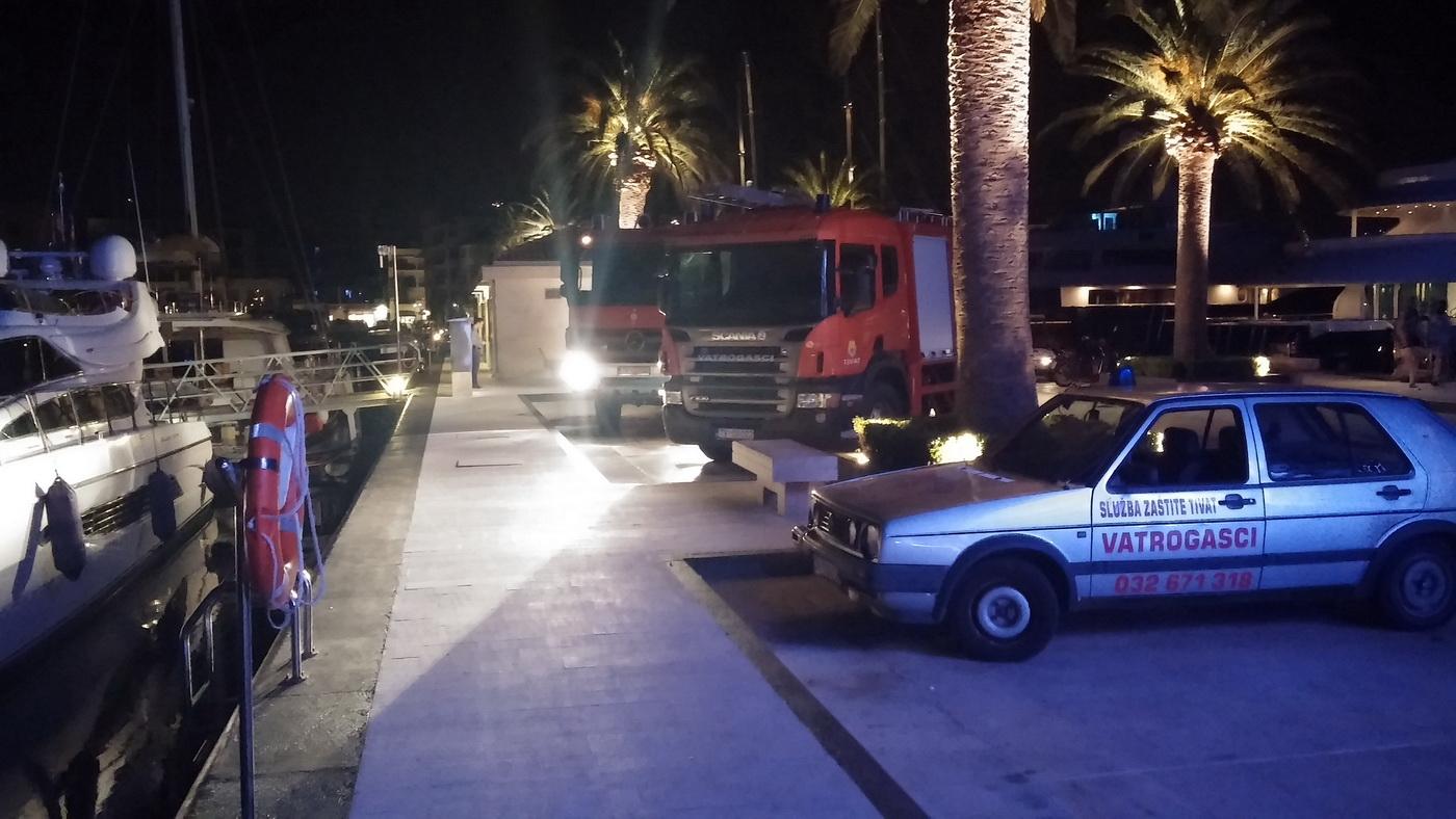 Požar na jahti u Porto Montenegru