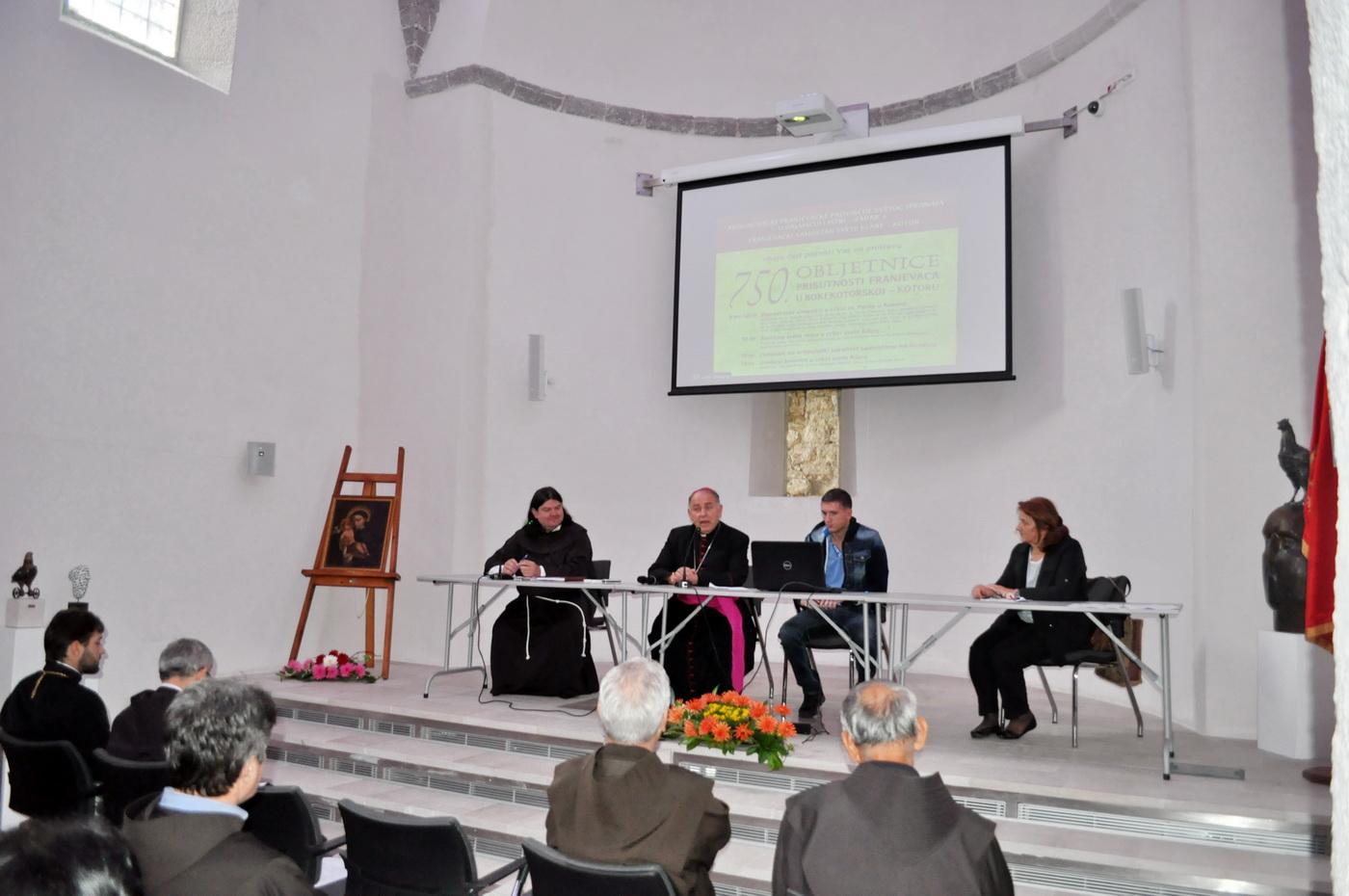 Franjevci 750 godina u Kotoru – naučni skup, proslava