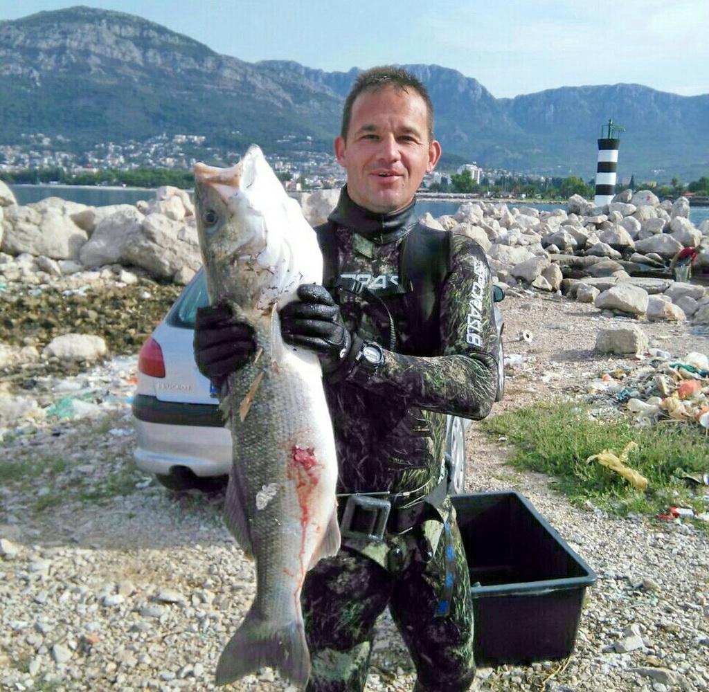 Prvo mjesto septembar - Rudolf Marčić - brancin 7.5kg