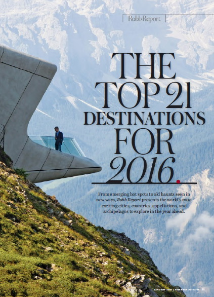 The Top 21 destinations for 2016.