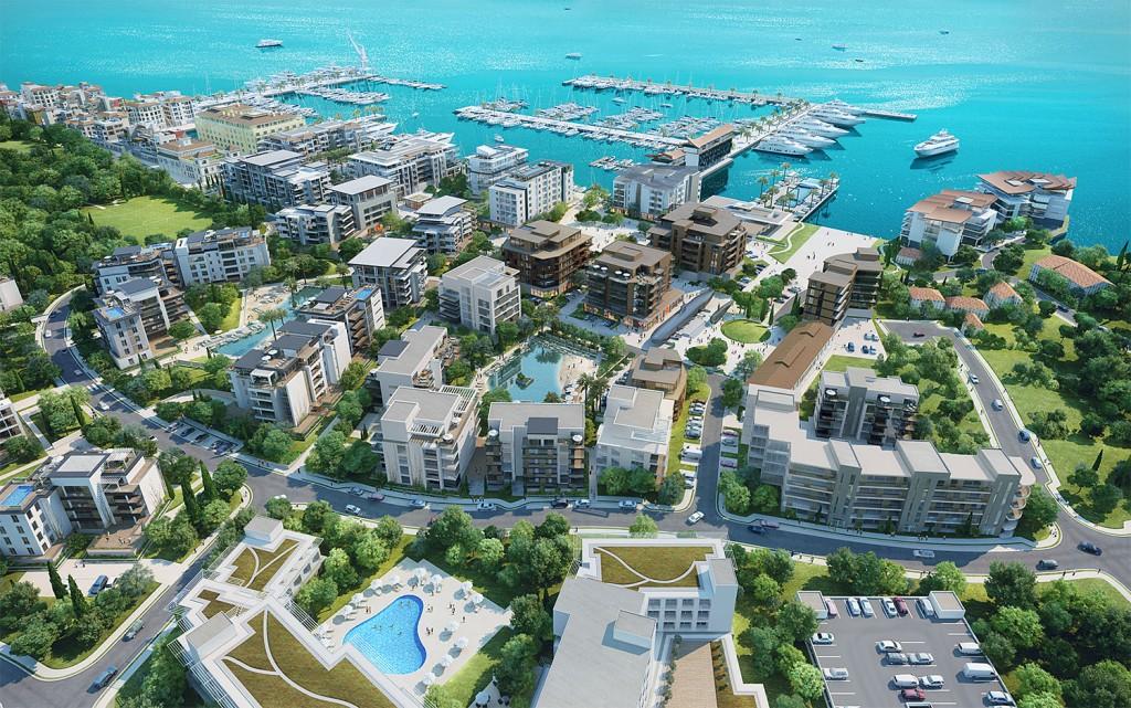 Kompjuterski prikaz sjeverozapadnog dijela Porto Montenegra