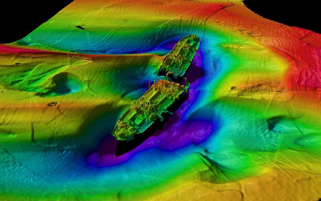 Olupina broda snimljena Sea Batom