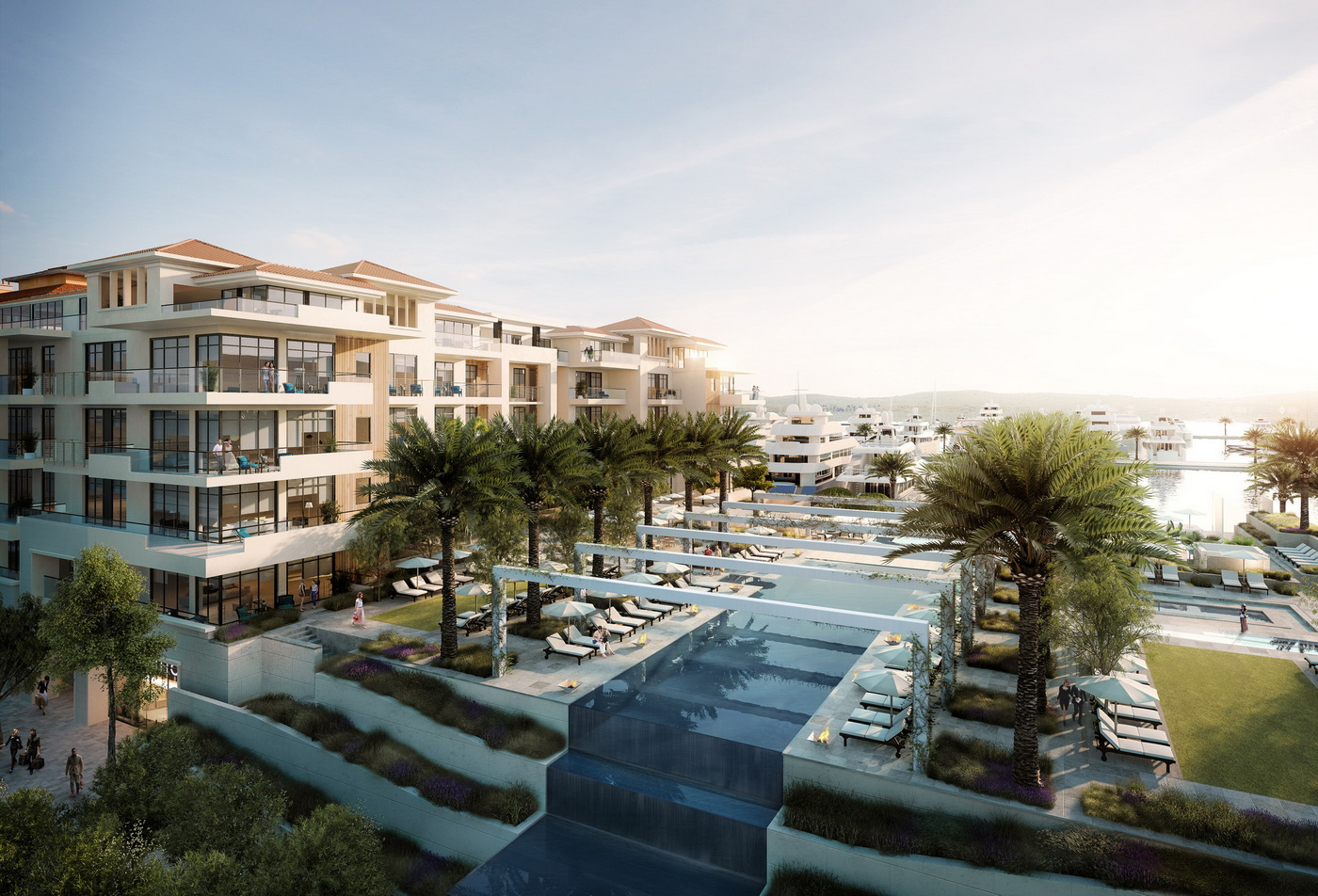 Porto Montenegro - Regent Hotel Residences from north east