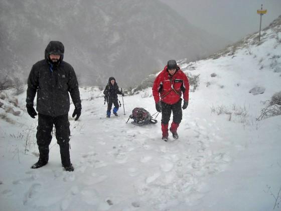 Dolazak preko prevoja Vratlo