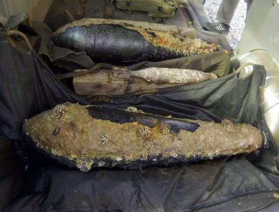 MDO izvadio iz mora avionske bombe kod Karatoča