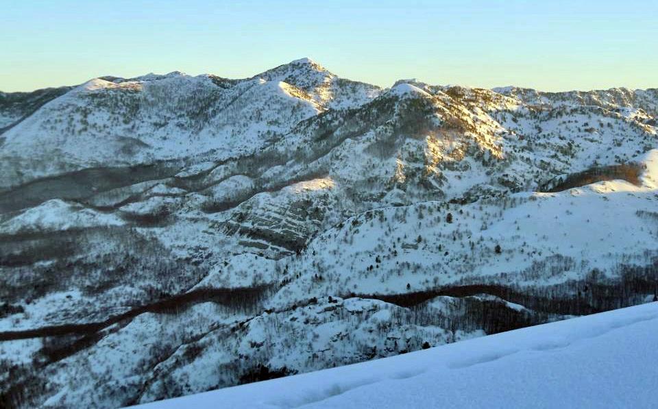 Veliki kabao, vrh Orjena, pogled sa Subre