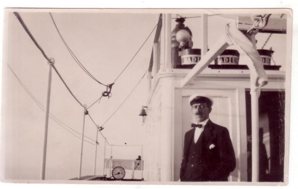 Đurko Radimir kao zapovjednik parobroda RADIUM 1922 god.
