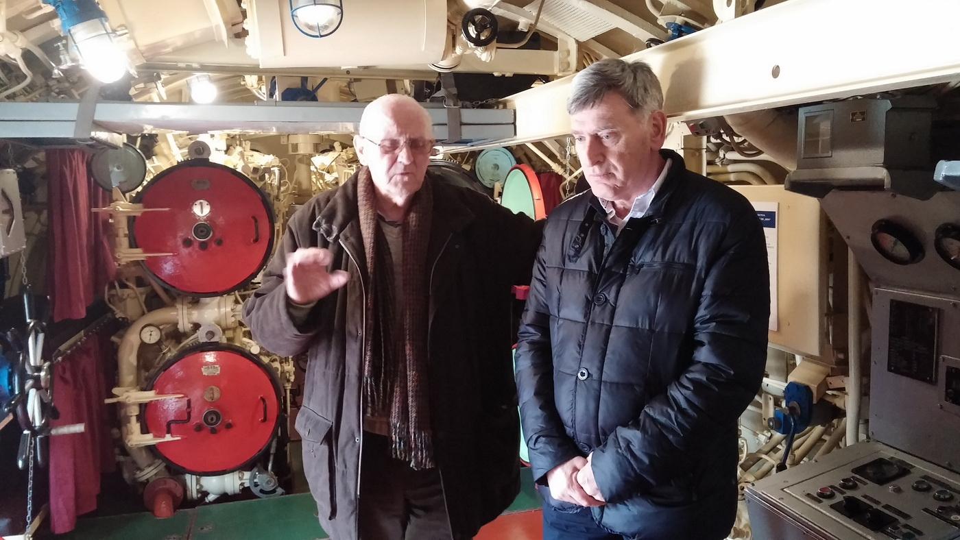 Korbar i Bulatovic u podmornici HEROJ
