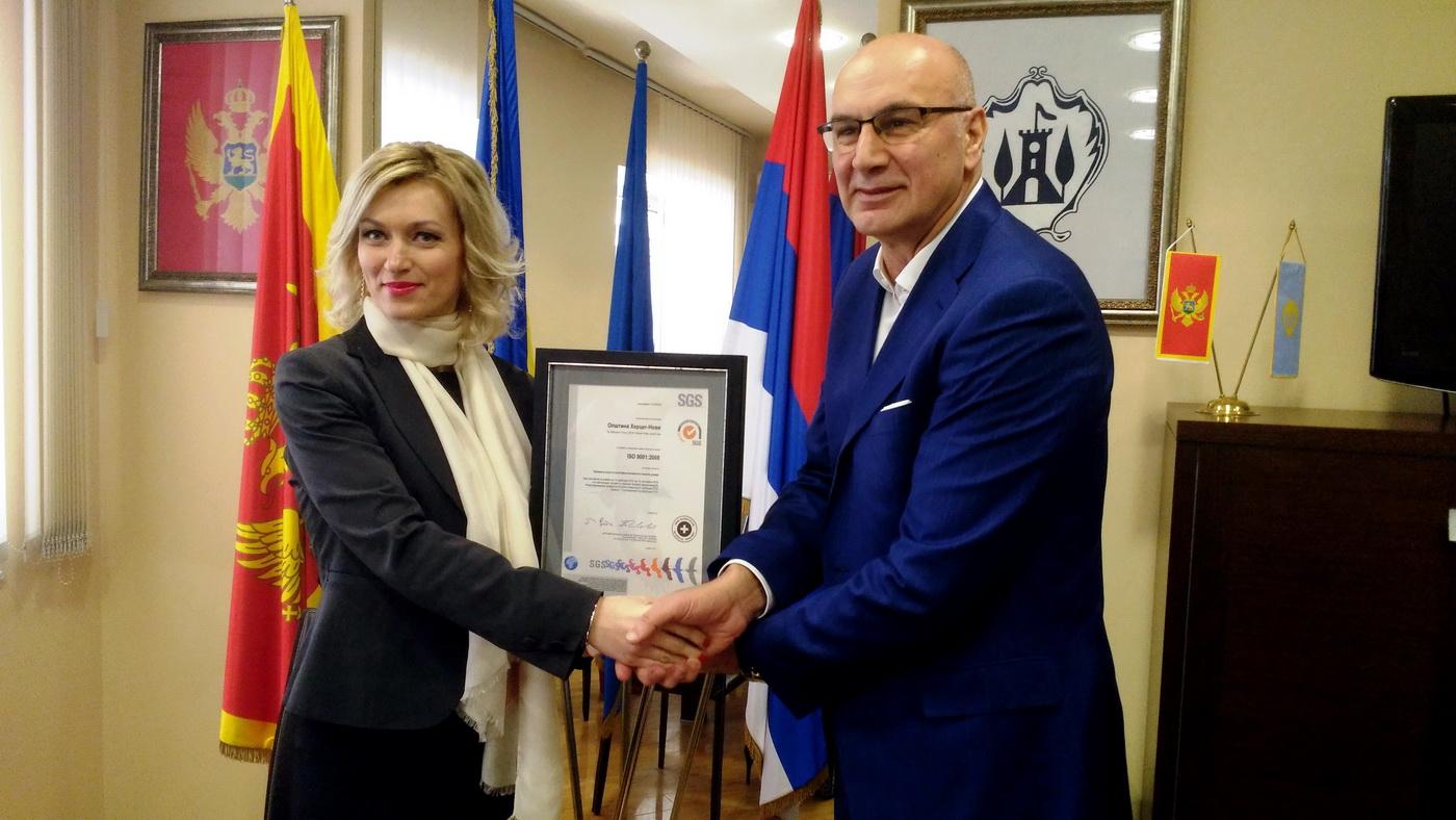 Opstina Herceg Novi dobila sertifikat ISO 9001