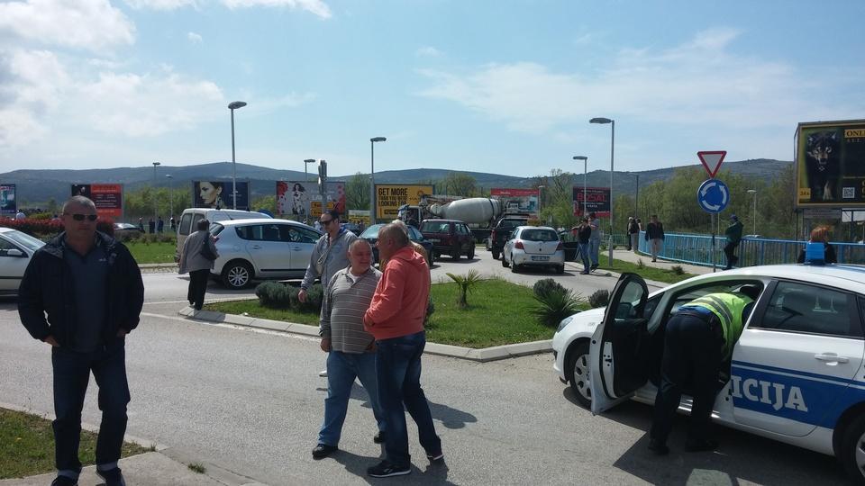 Blokada Jadranske magistrale  foto S.Luković