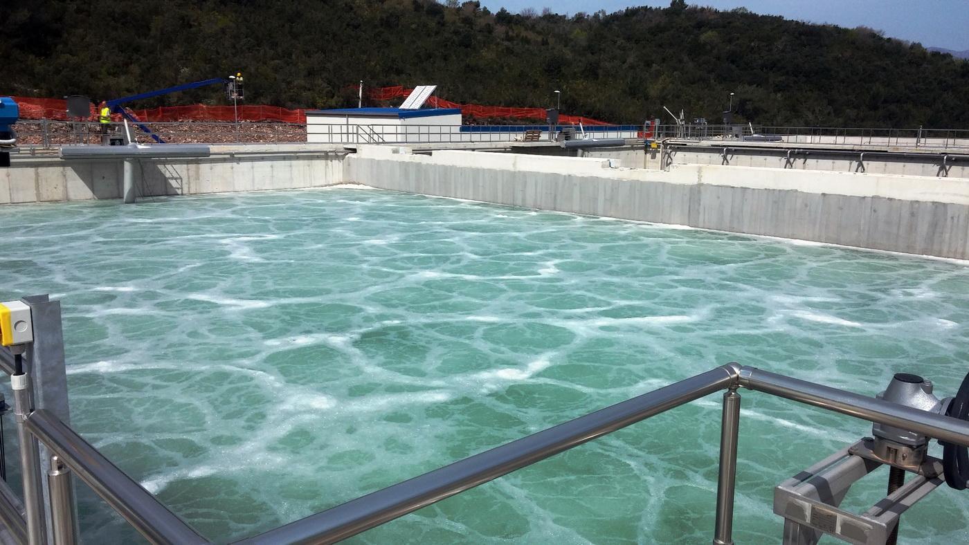 Jedan od bazena za preciscavanje