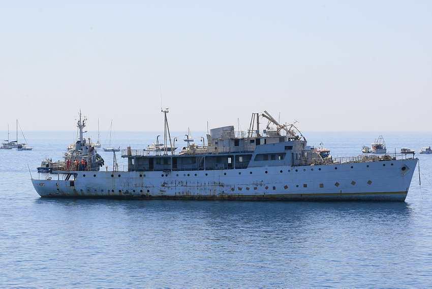Potapanje broda Vis - Foto: Goran Sebelić / CROPIX