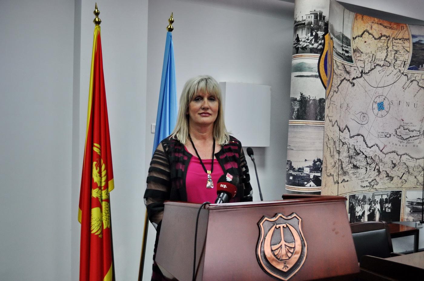 Dr Snežana Matijević predsjednica opštine Tivat - foto Boka News