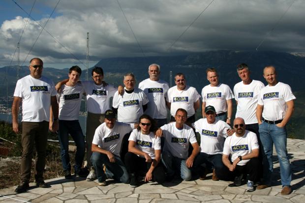 Mjesovita ekipa koja je 2014 godine bila evropski pobjednik najvecem CQWW takmicenju radeci sa stanice 4O3A sa Lustice pored Herceg Novog