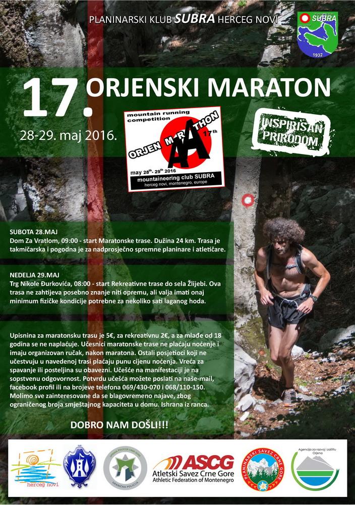 Orjenski maraton 2016, naslovna