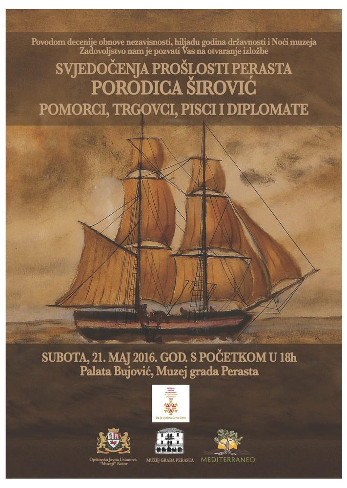 Plakat porodica Širović muzej Perast
