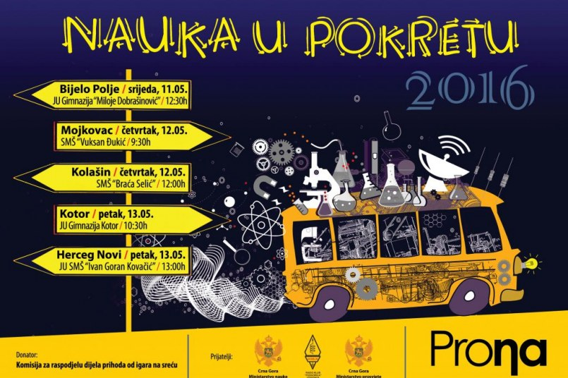 Putujući festival nauke u pet crnogorskih gradova