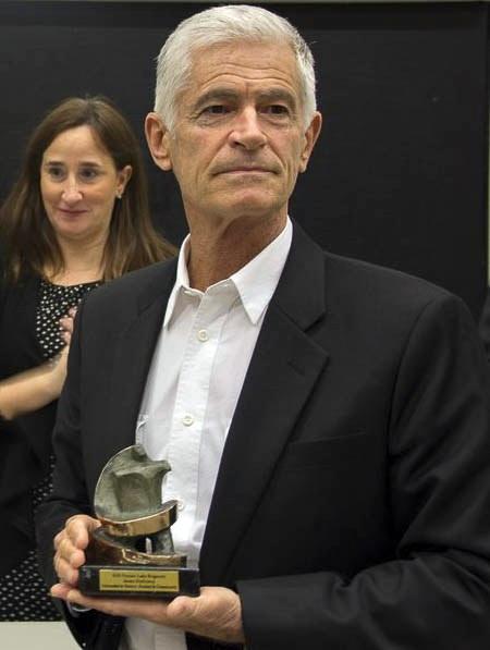 "James Nachtwey sa nagradom ""Premio Luka Brajnovic de la Comunicación"" 2016."