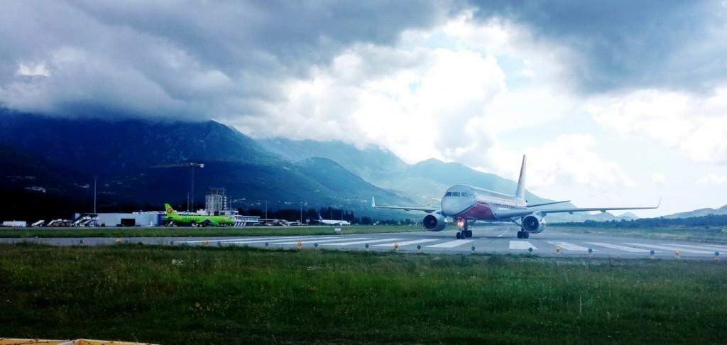 Danas na aerodromu Tivat