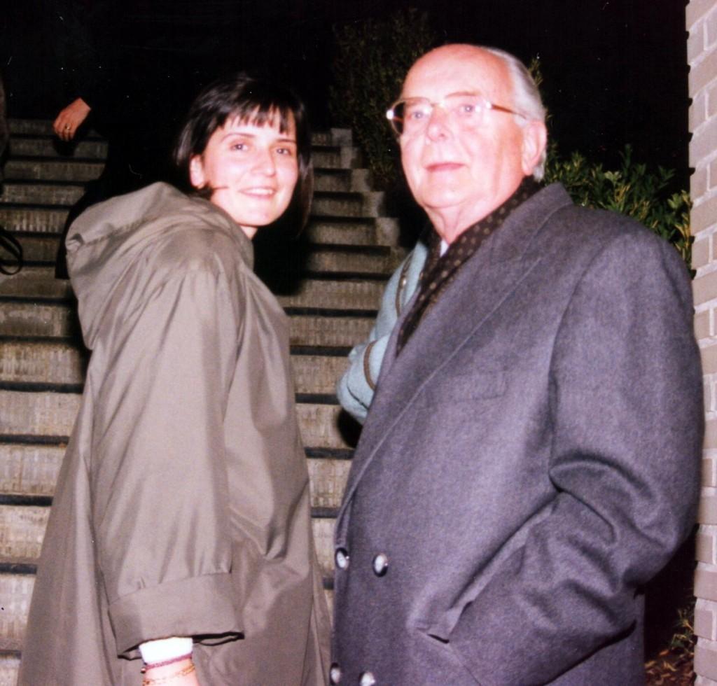 Luka Brajnović sa ćerkom