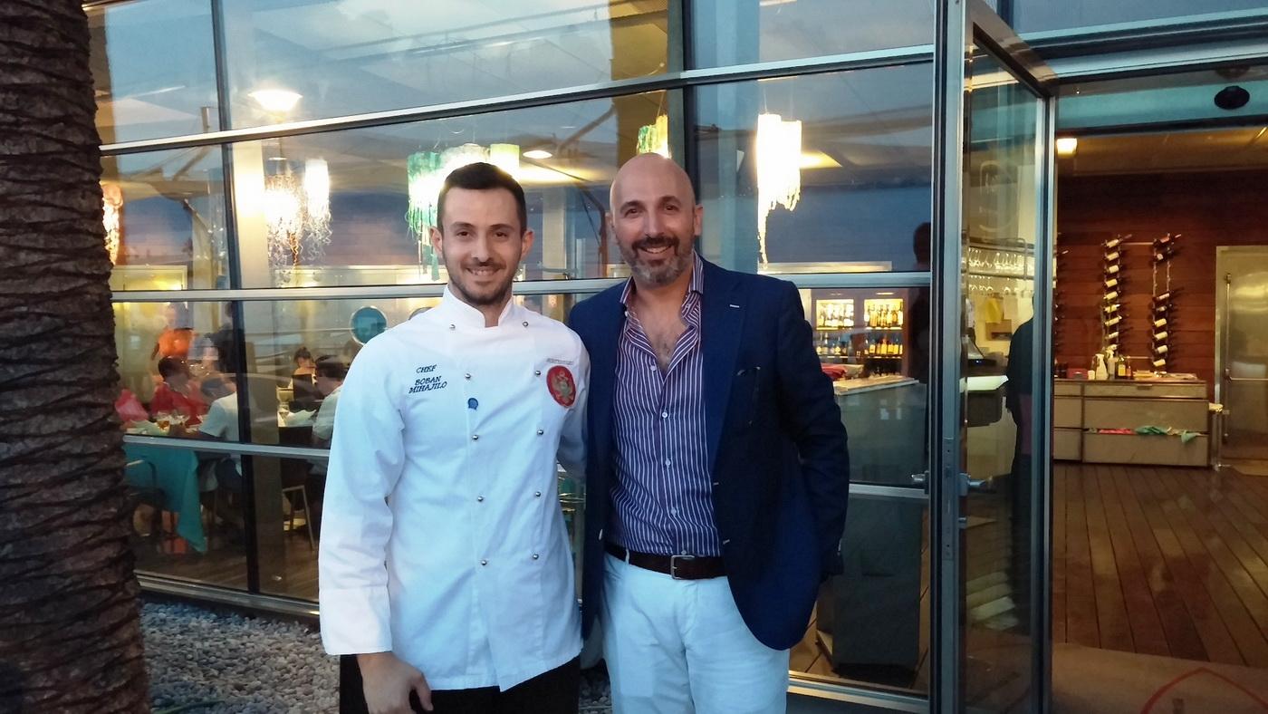 Šef kuhinje Prove Boban Mihajlo i Andrea Ribaldone_