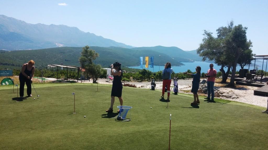 Golf vjezbaliste na Luštici