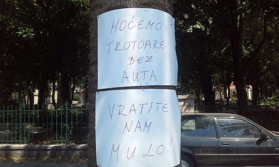 Risan štrajk - foto Radio Kotor
