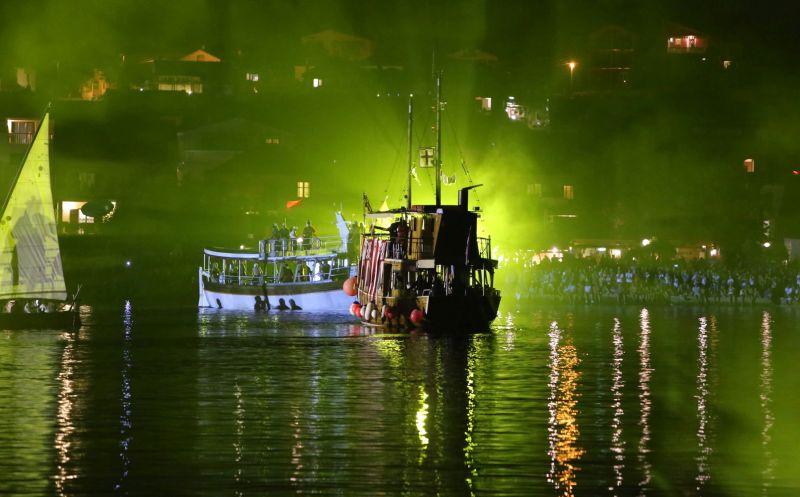 PAKOSTANE, 22.08.2016. Dani vitezova vranskih- Velika nocna pomorska bitka... U velièanstvenoj bitci je sudjelovala cijela flota brodovlja, jedrenjaci, brodice i druga plovila