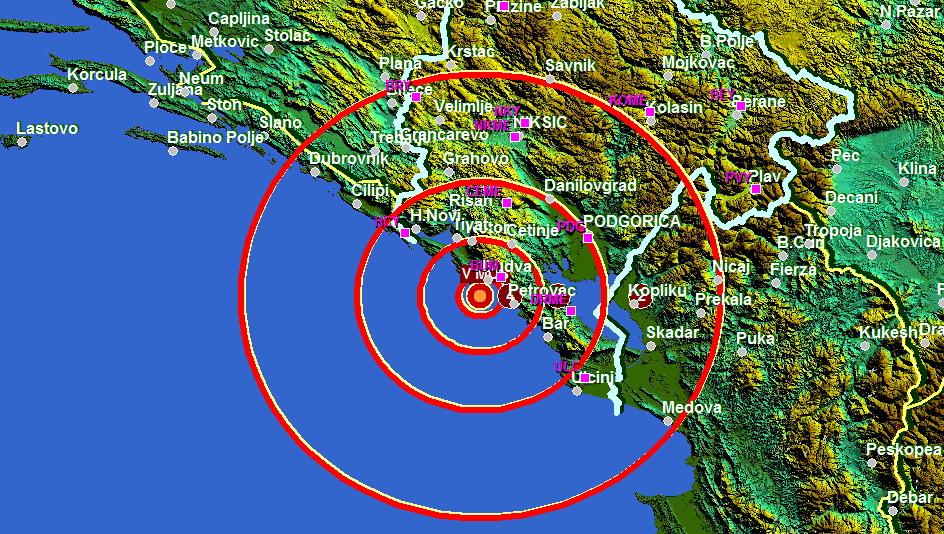 Zemljotres Budva