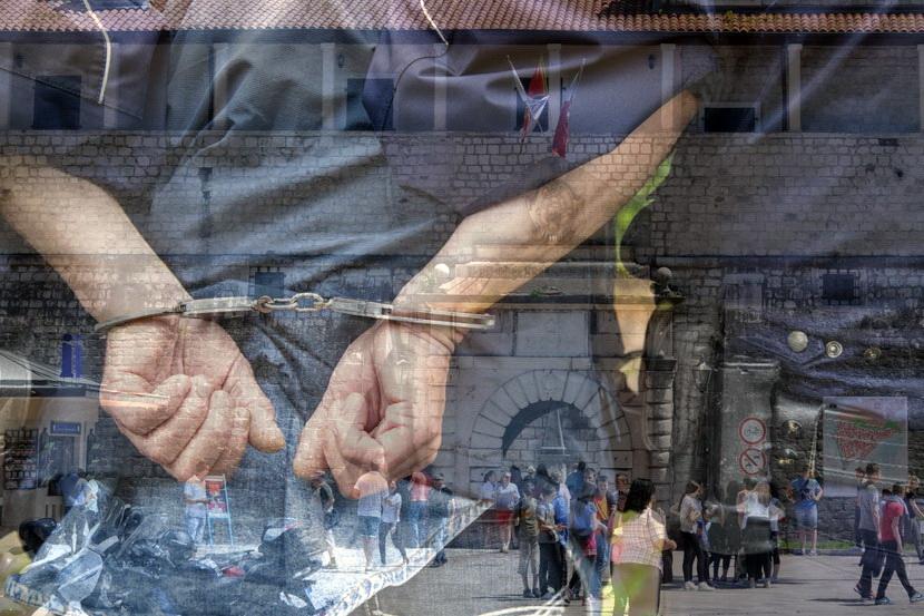 Hapšenje - lisice privodjenje Kotor