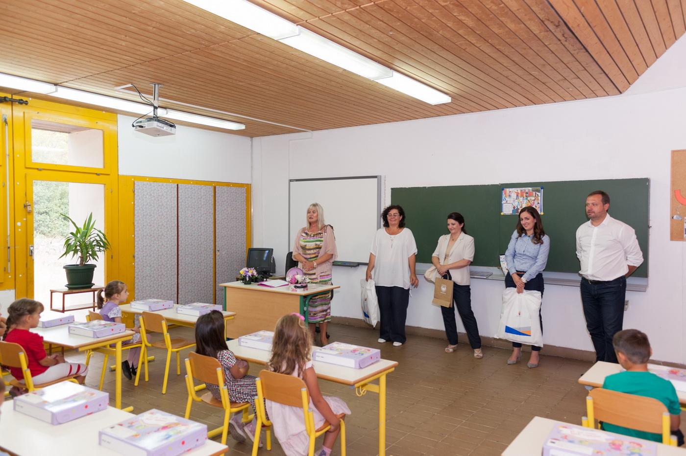 Predsjednica opstine u skoli u Radovicima