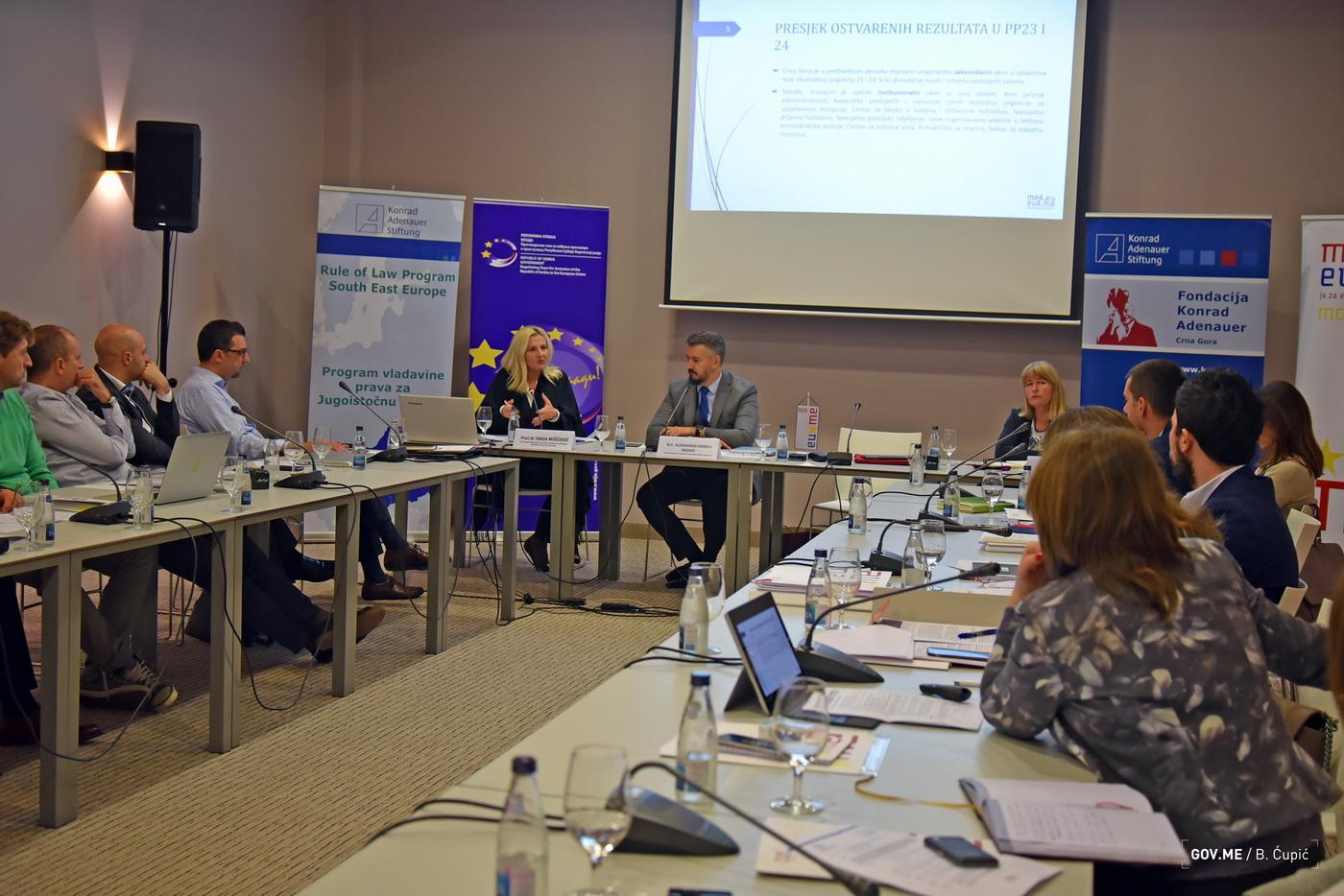 sastanak članova pregovaračkih timova Crne Gore i Srbije